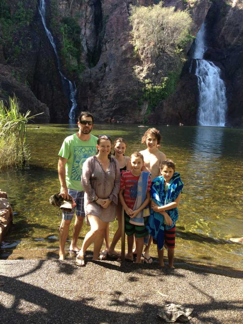 Wangi Falls, Litchfield National Park - now our kids are a whole lot older!