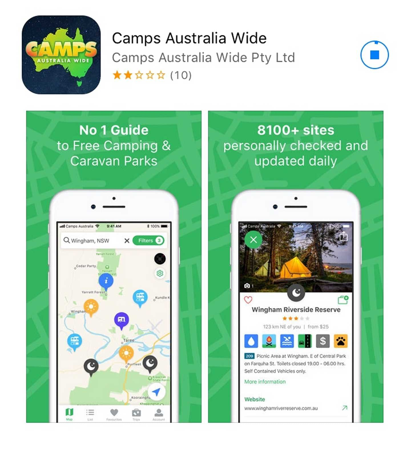 Camps Australia Wide - Camps App V3.0.1