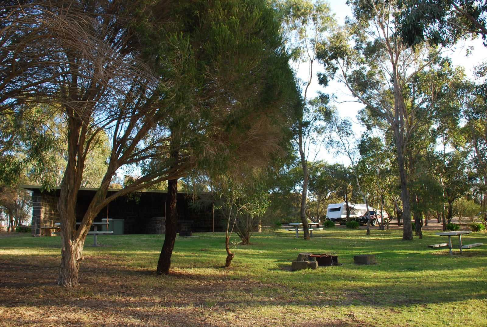 Picnic area with free gas BBQs at GHL
