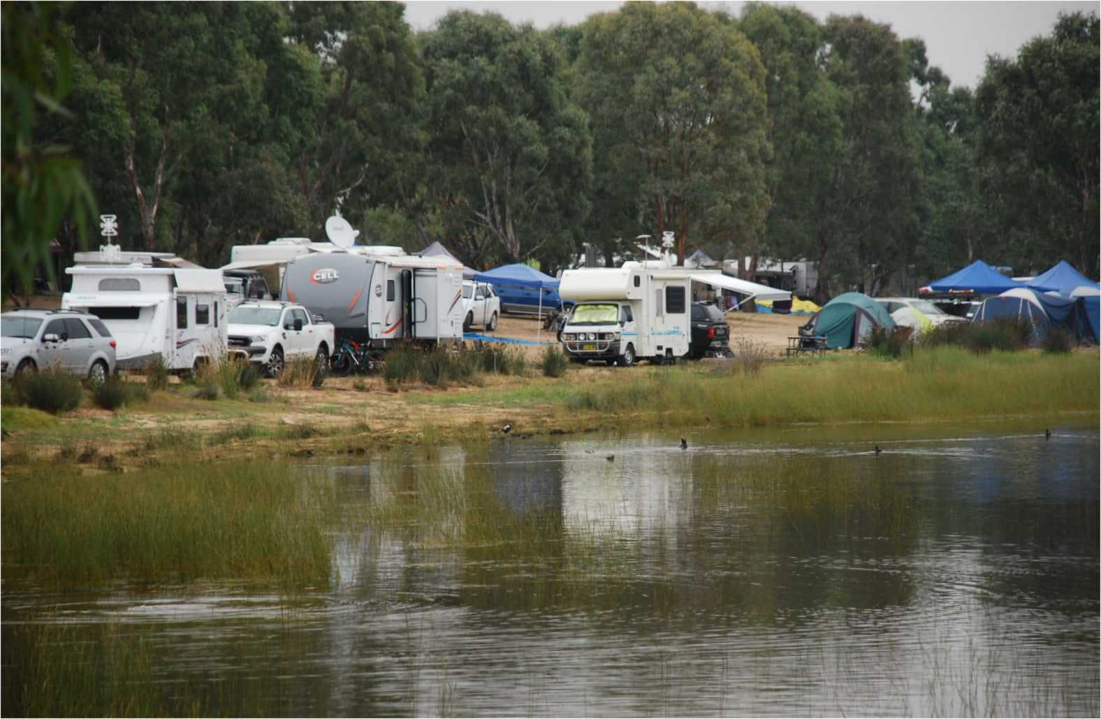 Easter was a busy time at the Green Hill Lake, near Ararat, VIC