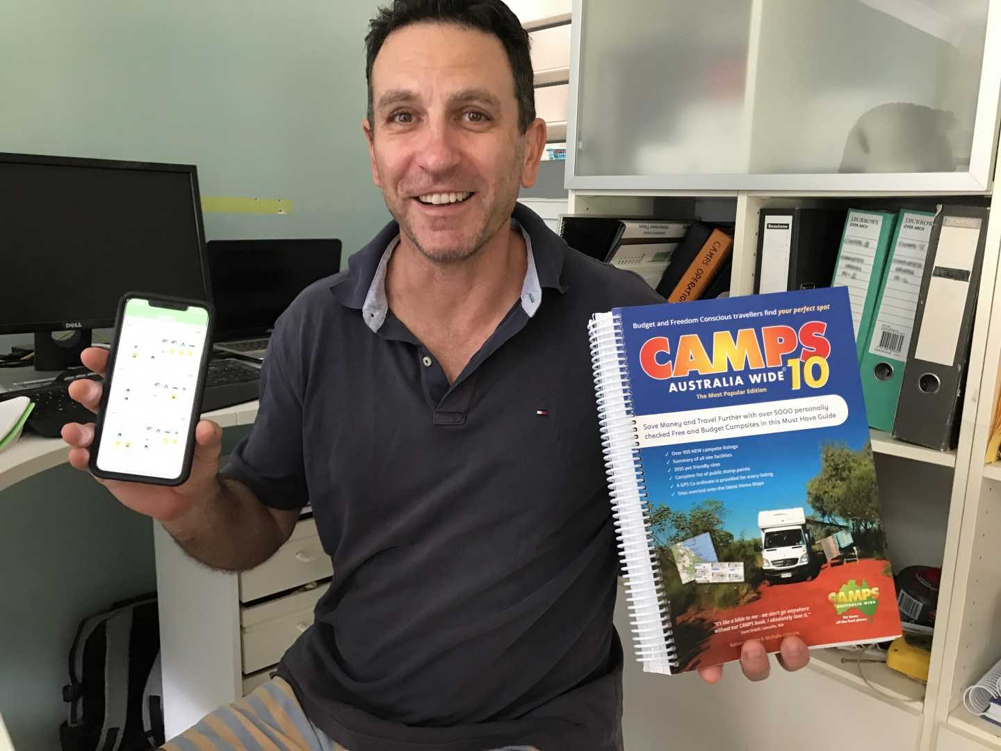 Heatley explains to App owners why the book is still a asset for your camping trips!