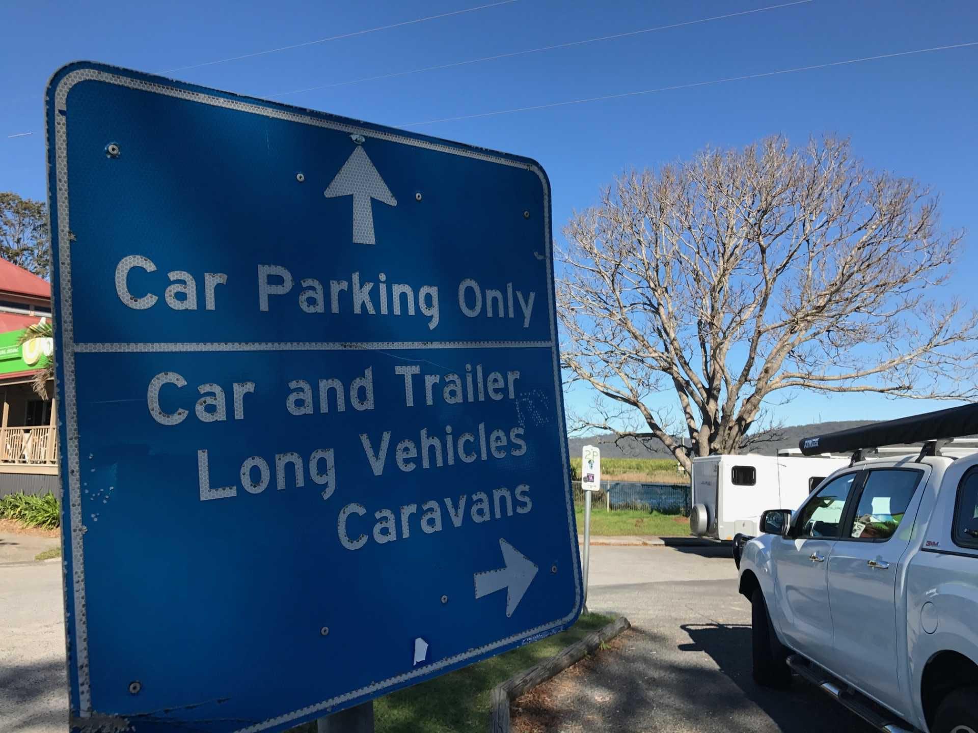 Keep designated RV parking for RVs!