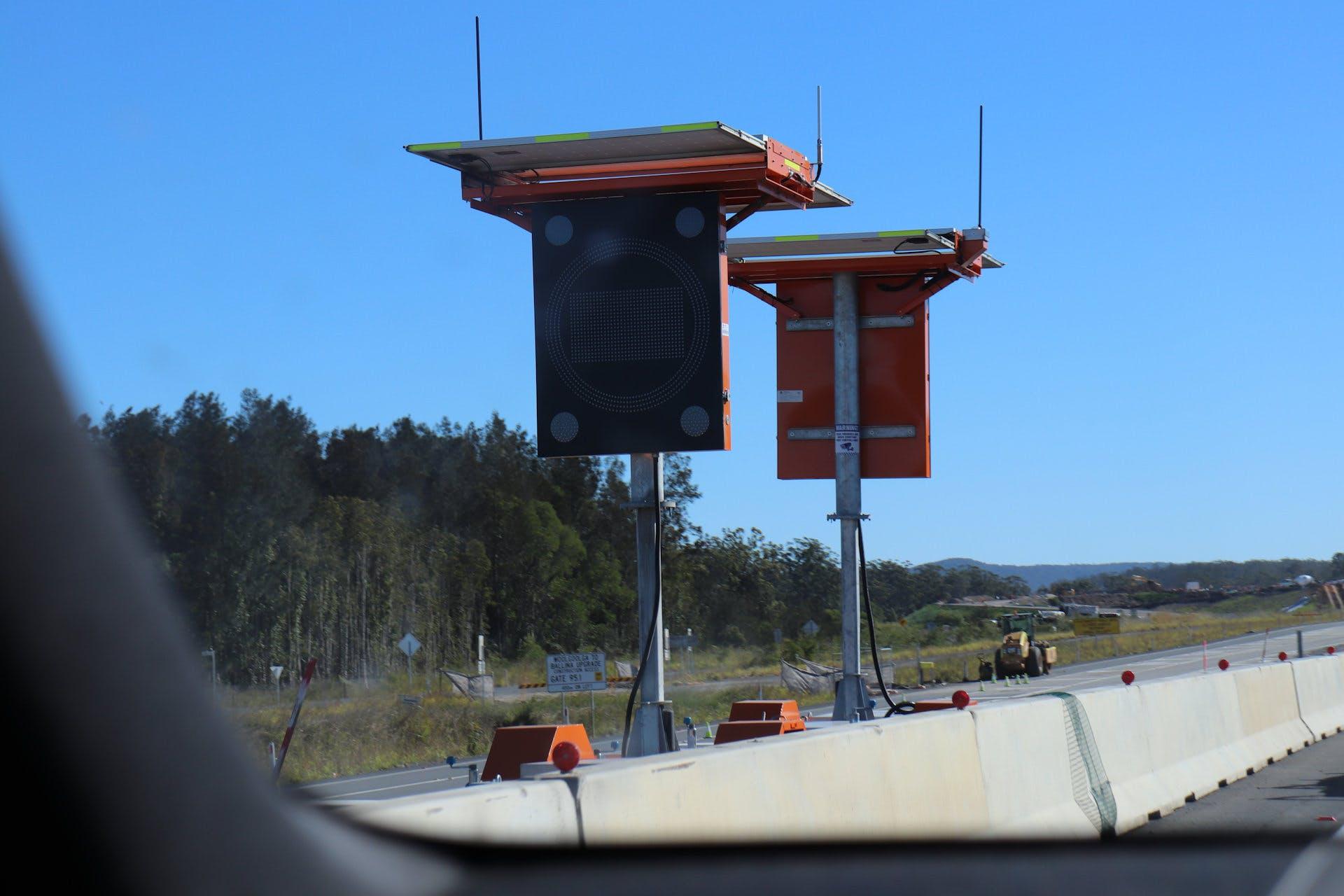 Alert Roadworks on the Pacific Highway