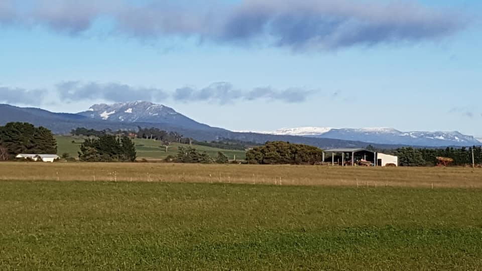 Hagley RV Farmstay views of the Great Western Tiers