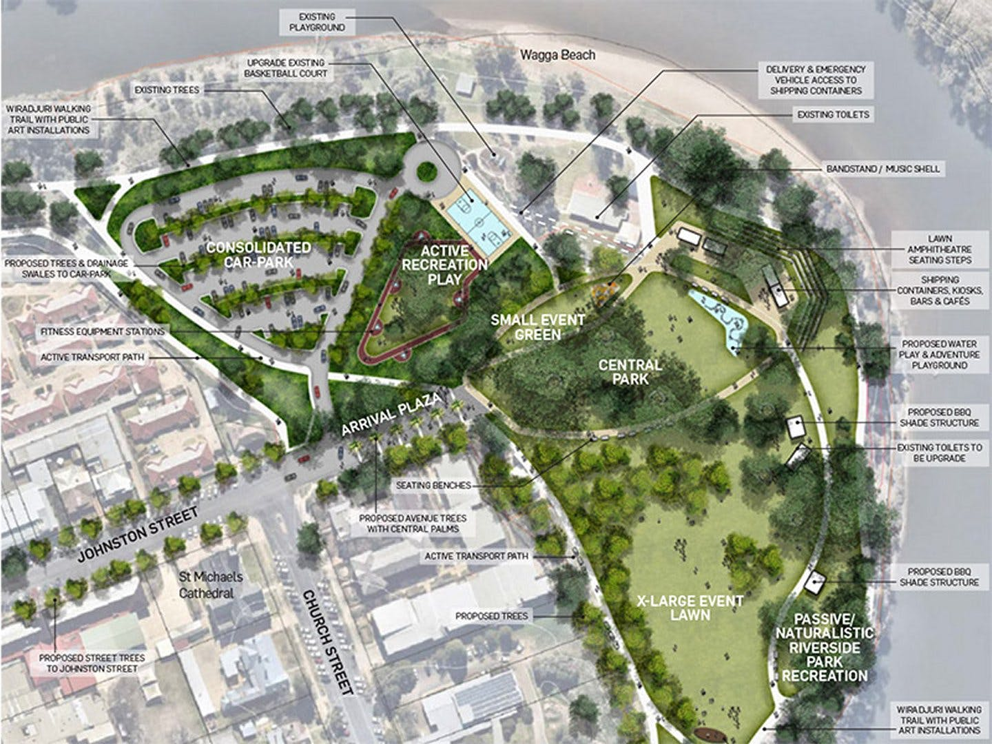 Wagga Wagga Riverside Redevelopment Stage 2 Concept