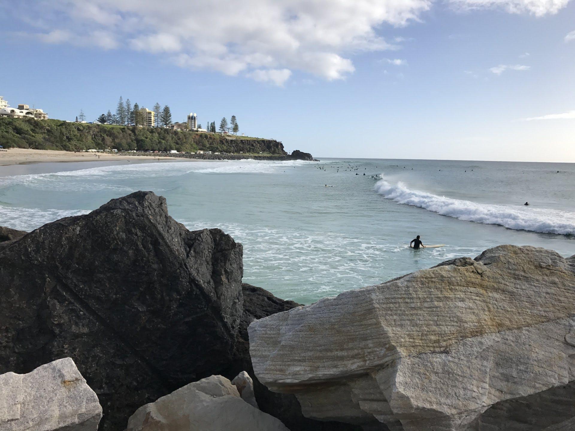 Tweed Heads - Duranbah Beach, looking up to Point Danger