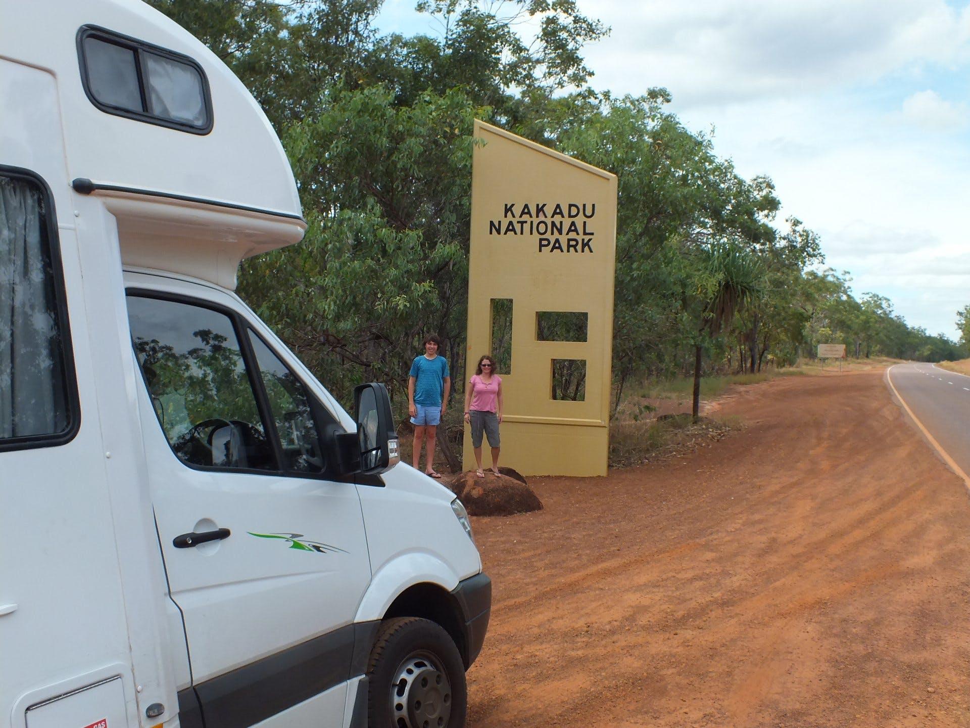 Camps Australia Wide - Kakadu sign