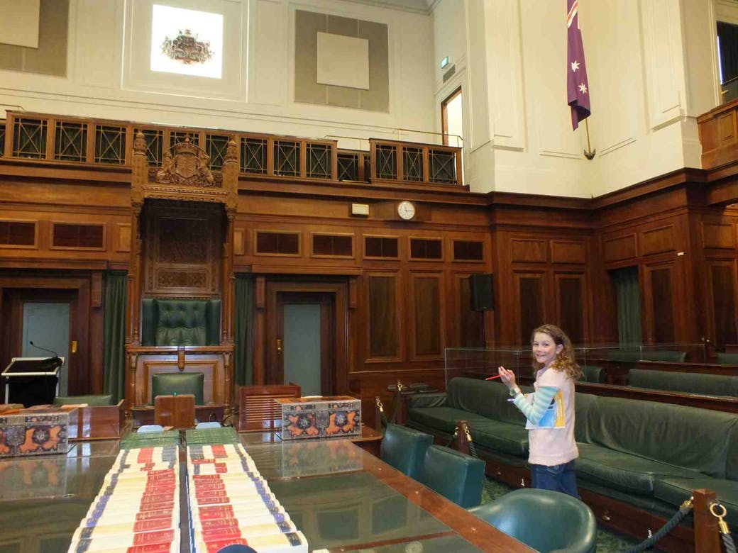 Canberra - Old Parliament House Senate Chamber
