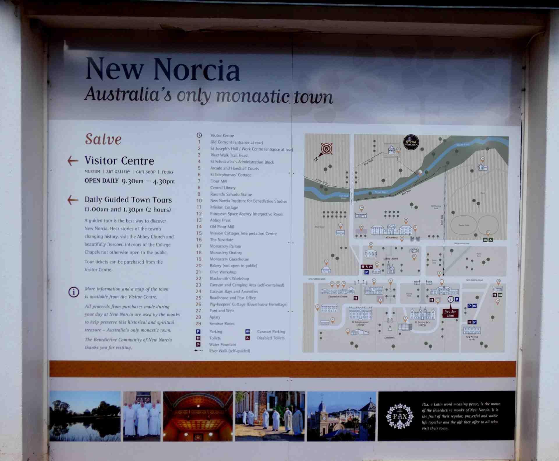 New Norcia notice board