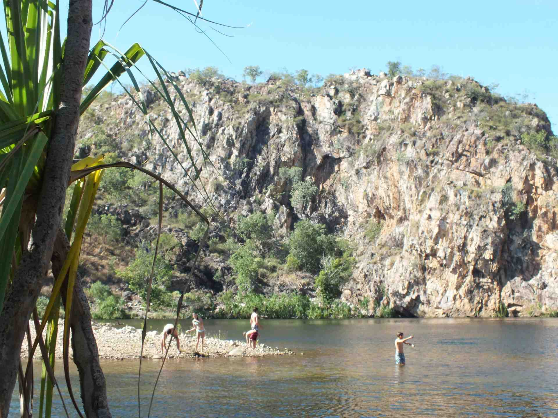 There's nothing more that our family loves than waterfall and waterhole hopping. Here we are at Edith Falls, NT