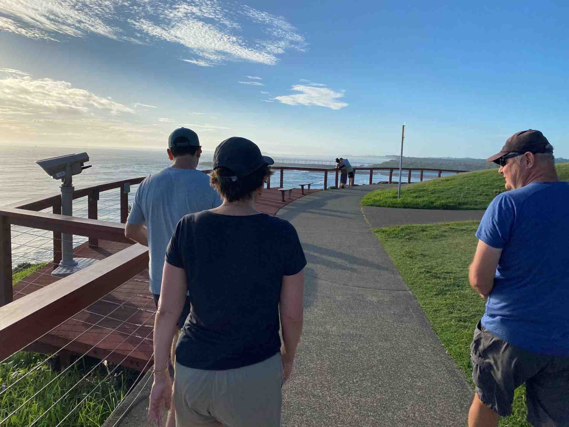 Walking across the border from Coolangatta to visit Tweed