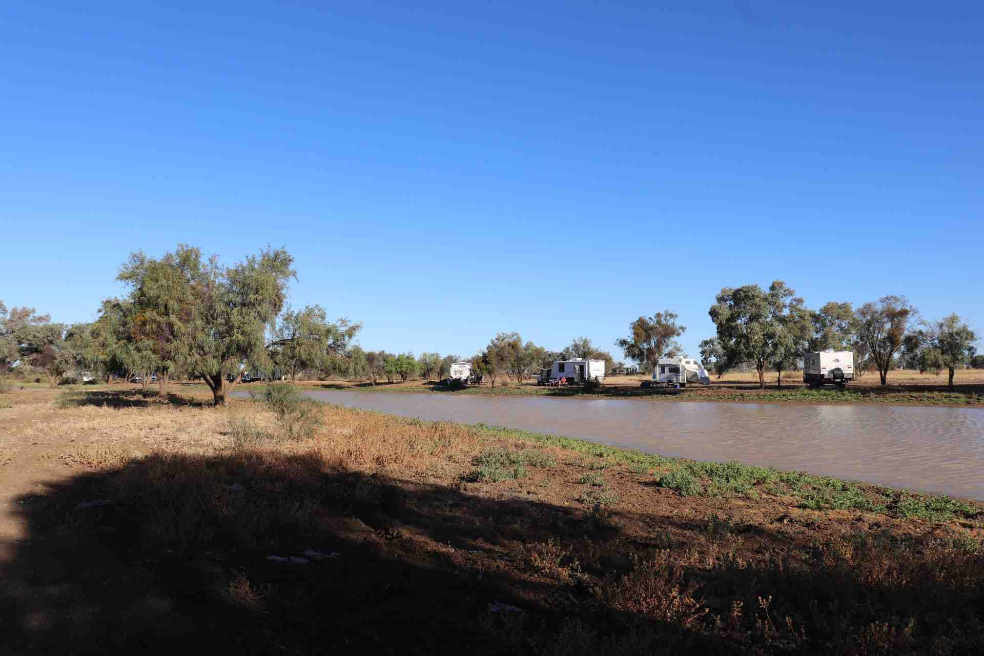 Free Camp Long Waterhole, Winton QLD is a popular spot in a town that offers all sorts of camping