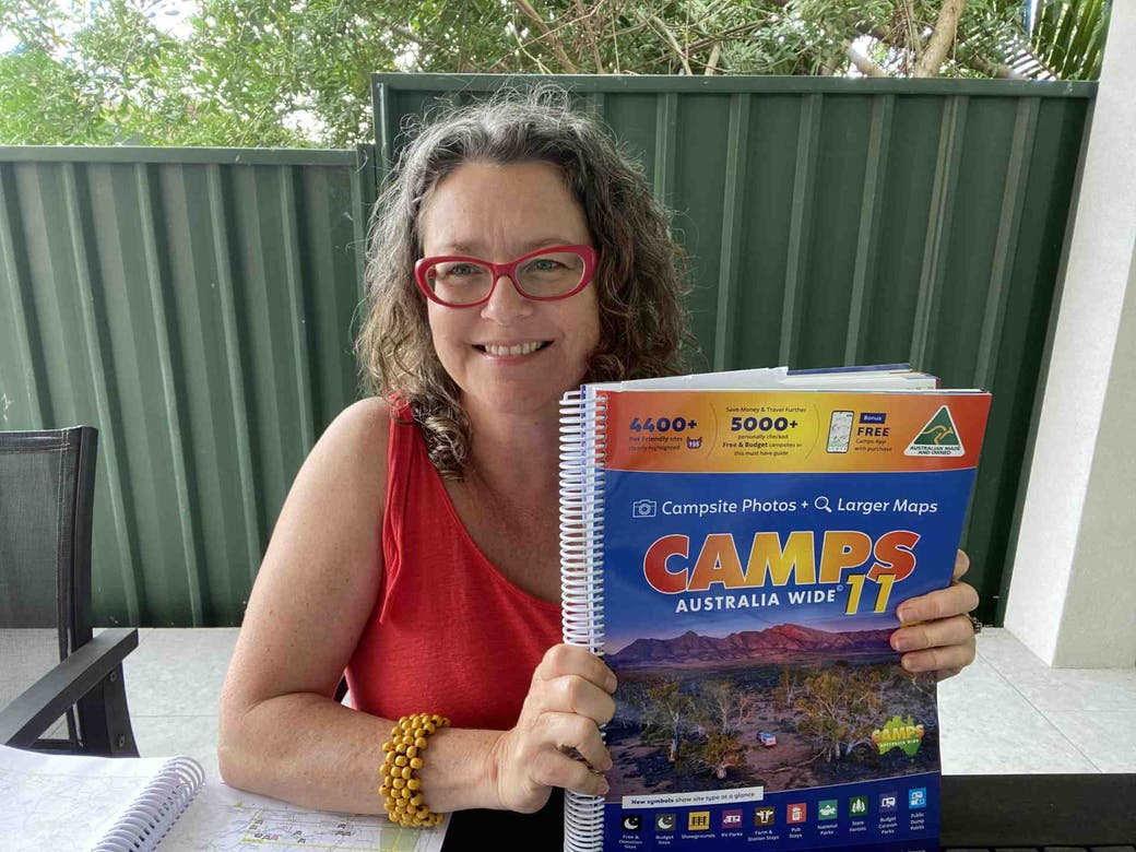 Michelle with CAMPS 11 B4 book
