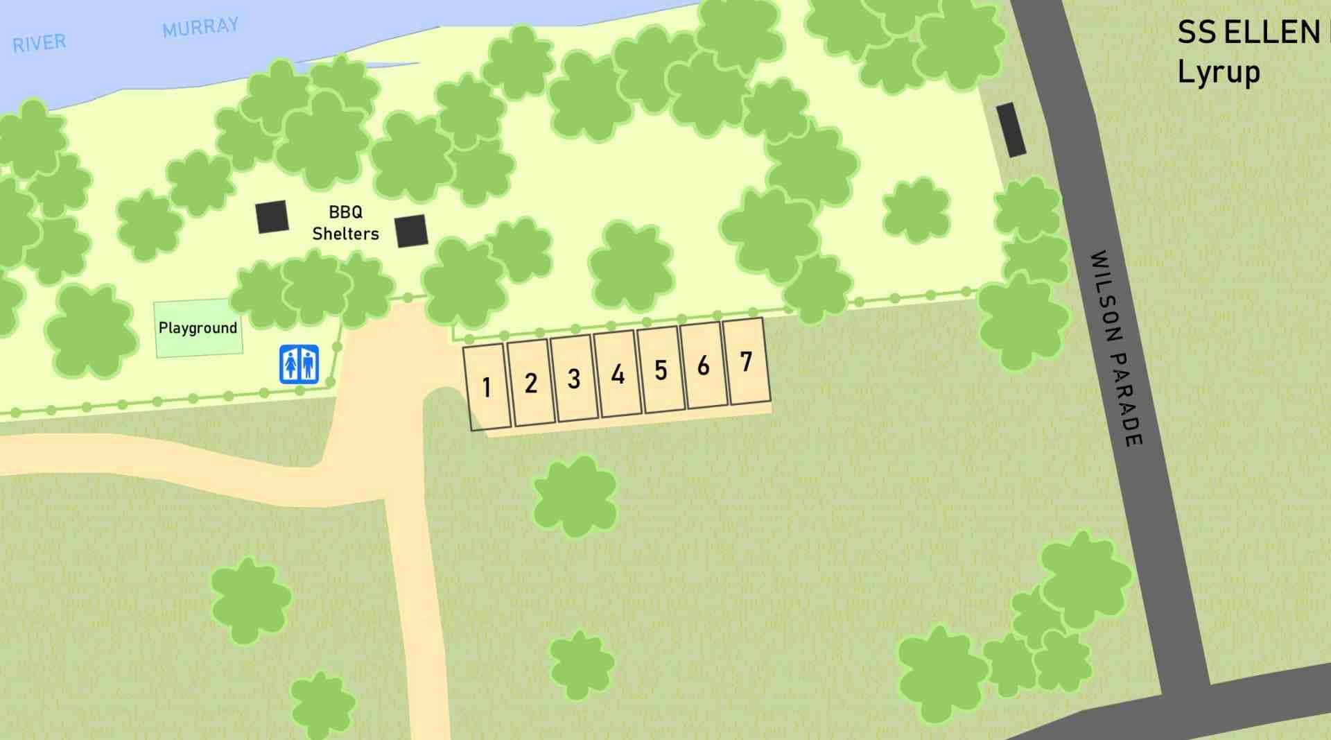 SS Ellen RV Park SA Map