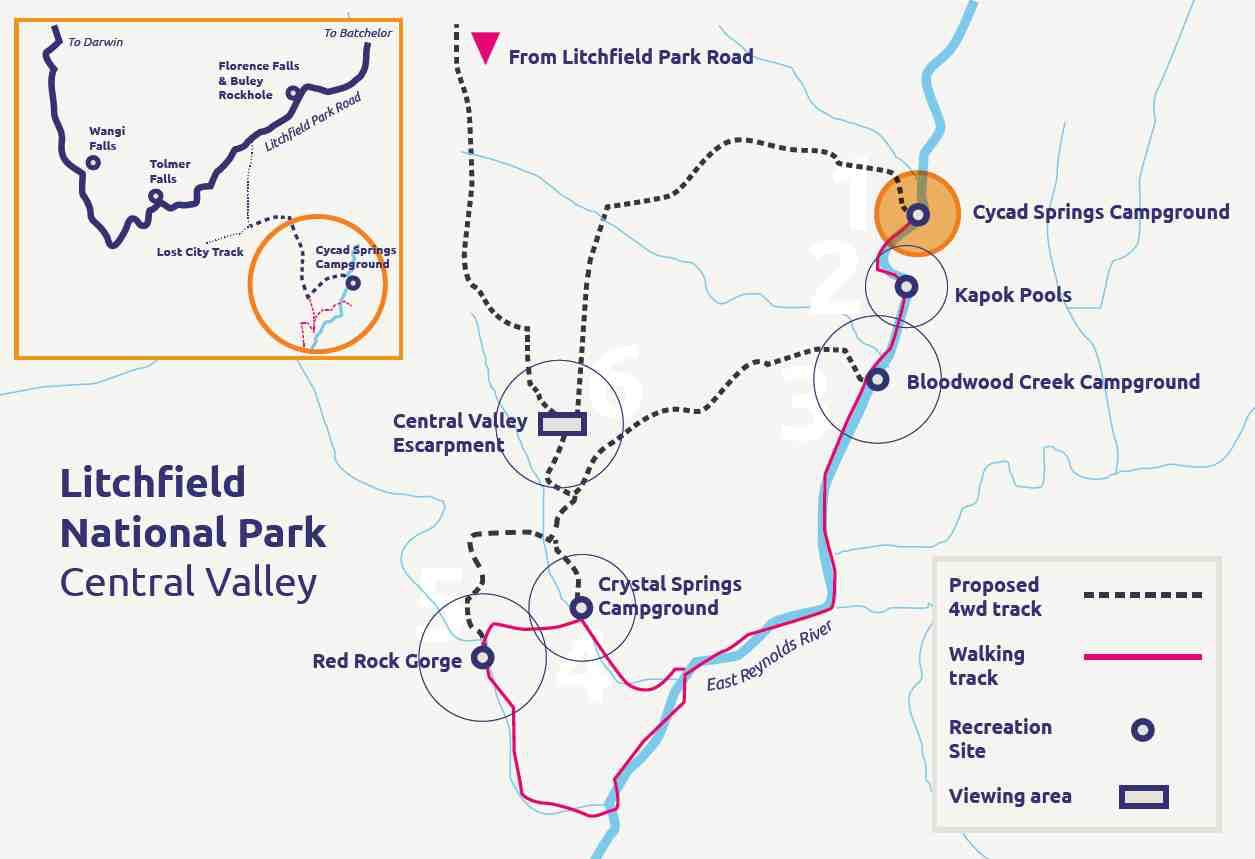 Litchfield National Park Central Valley Map