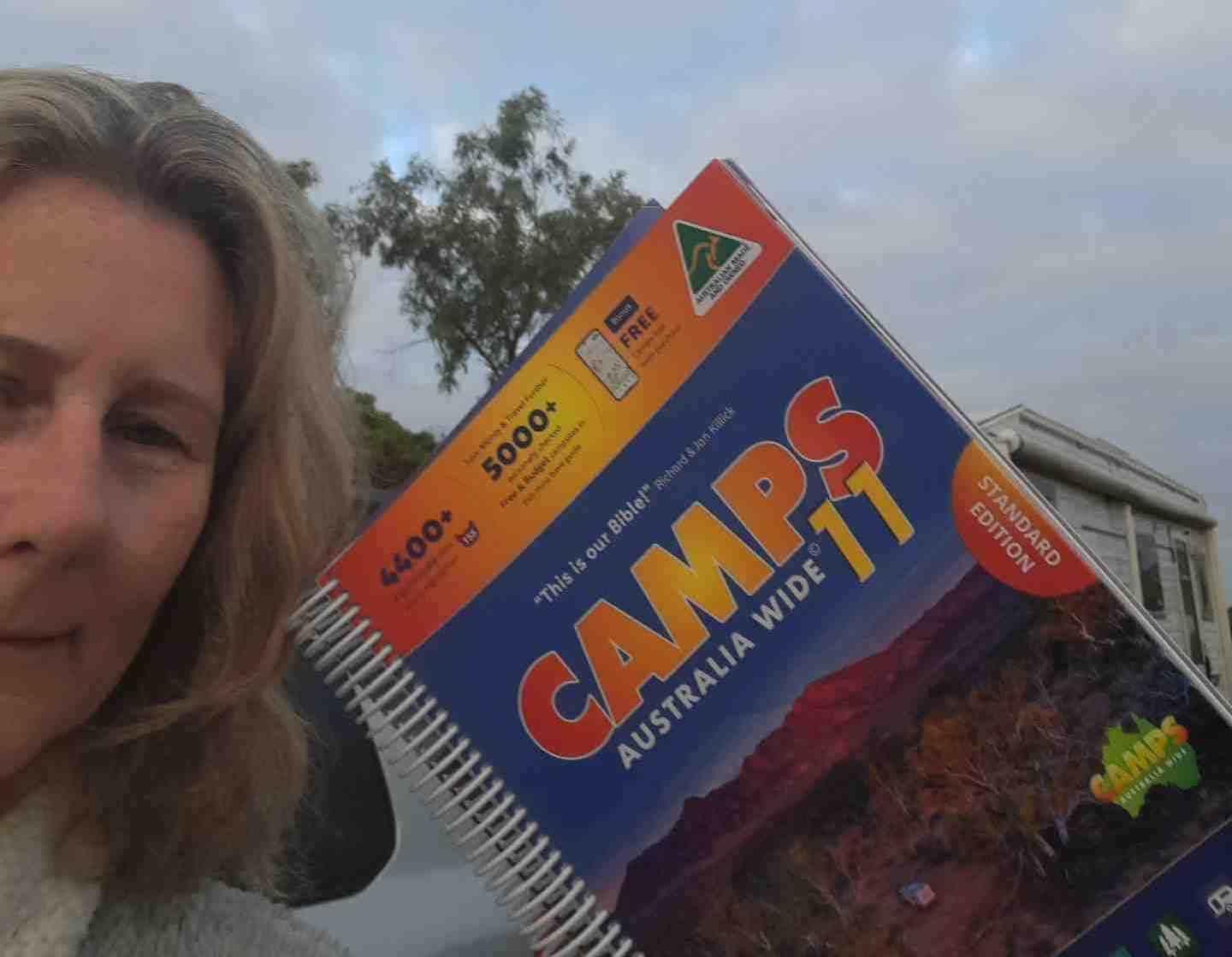 Kaz Nagle with her Camps 11 Book