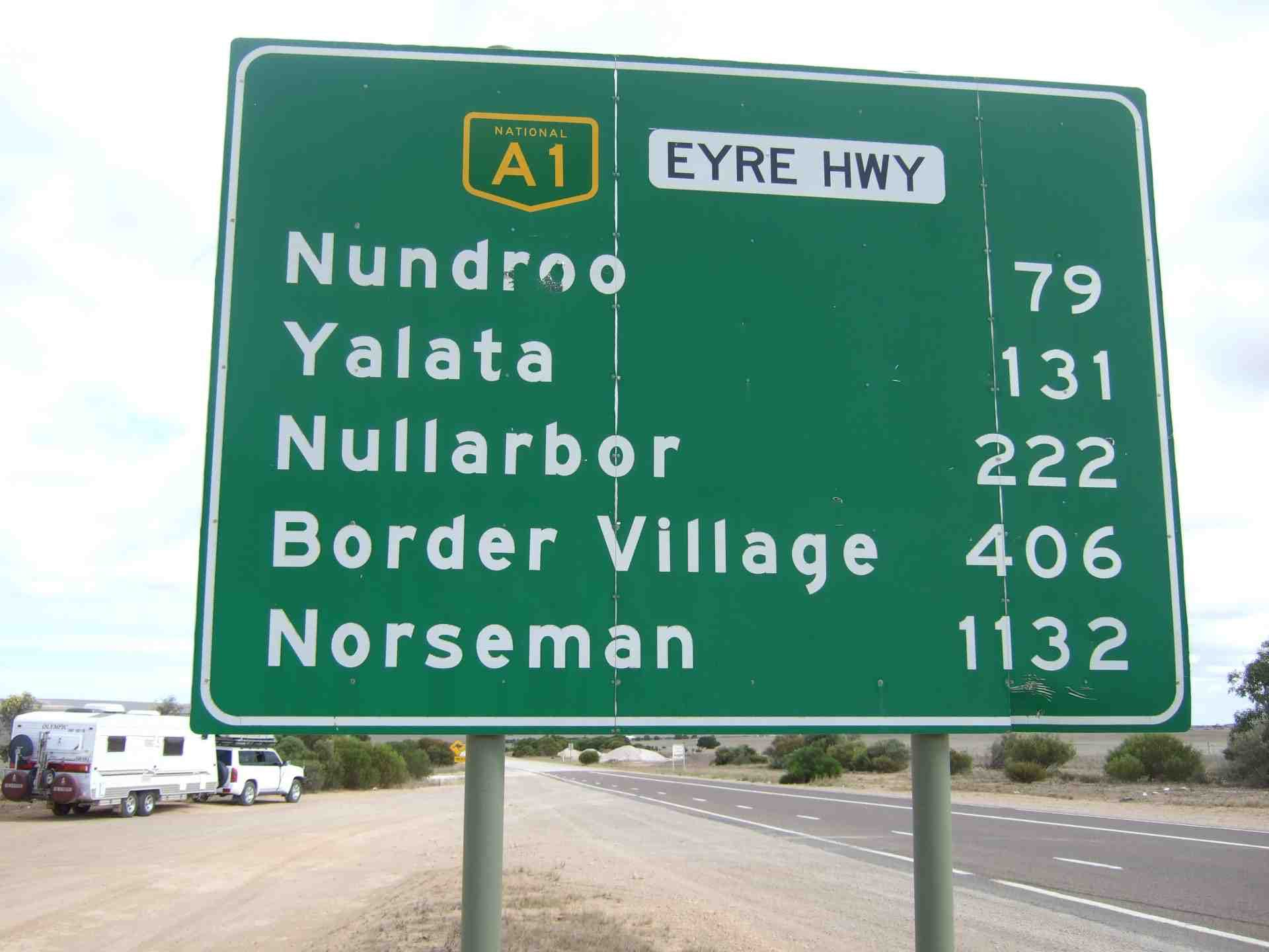 Eyre Highway Sign