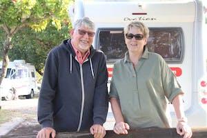 Gordon and Barbara at Rainbow Beach Holiday Village, QLD