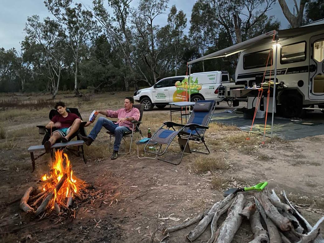 Round Water Hole, Chinchilla, Queensland - our first night in the new van - NSW and Dinner Plain, Victoria may not be an option!