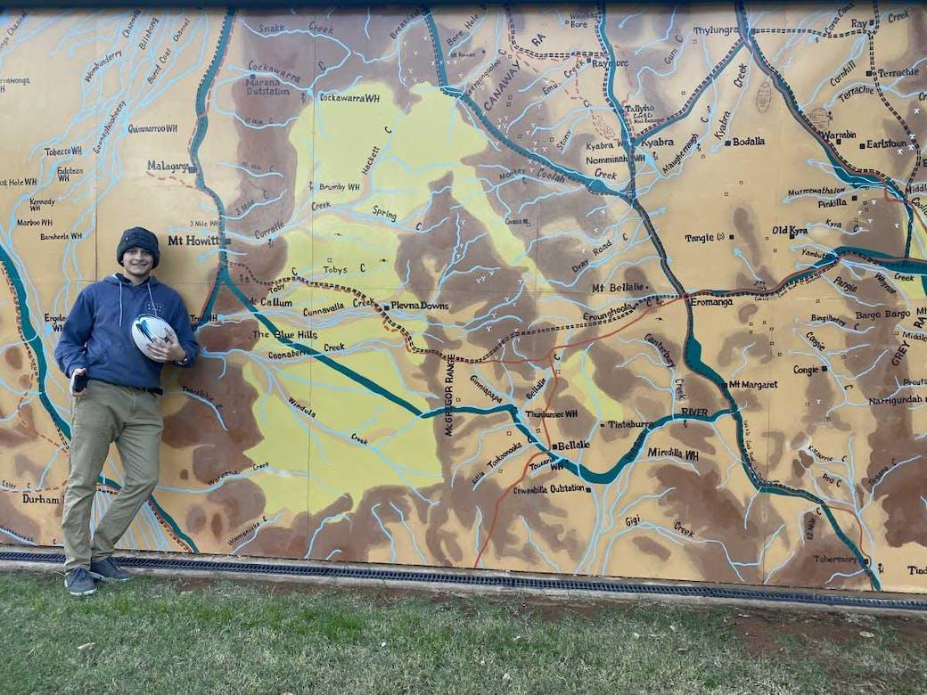 In Eromanga at Opalopolis Park
