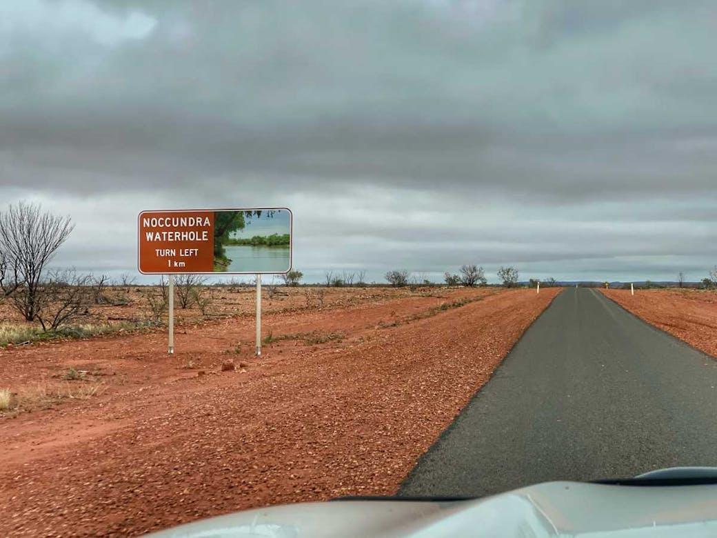Noccundra Waterhole sign