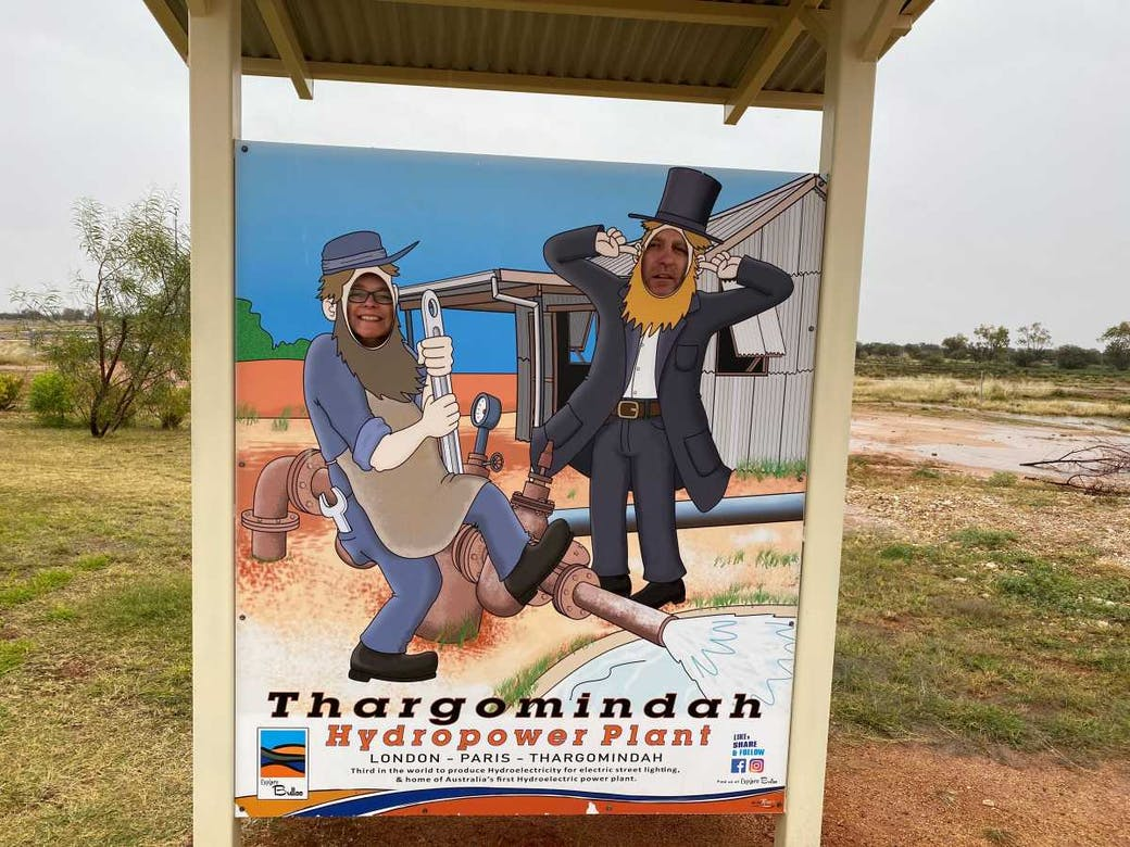 Thargomindah was the first place in Australia to have hydro electricity!