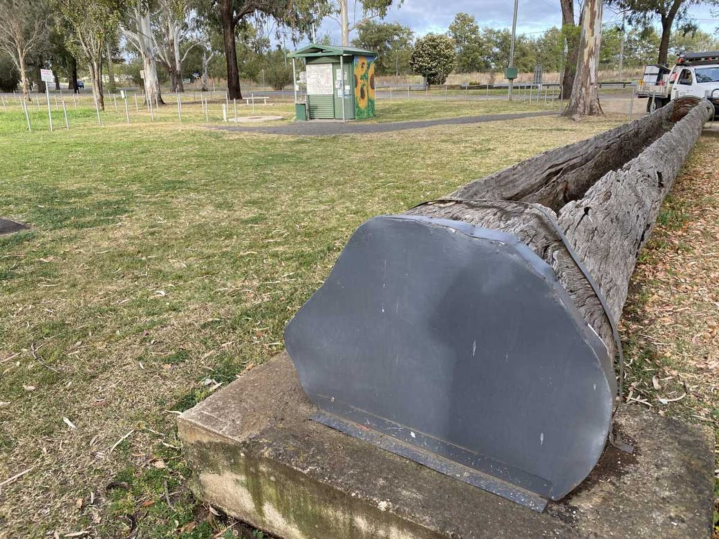 Allora - 1200 gallon wooden trough was built by Jack Busiko and Bill Blocksidge in 1948