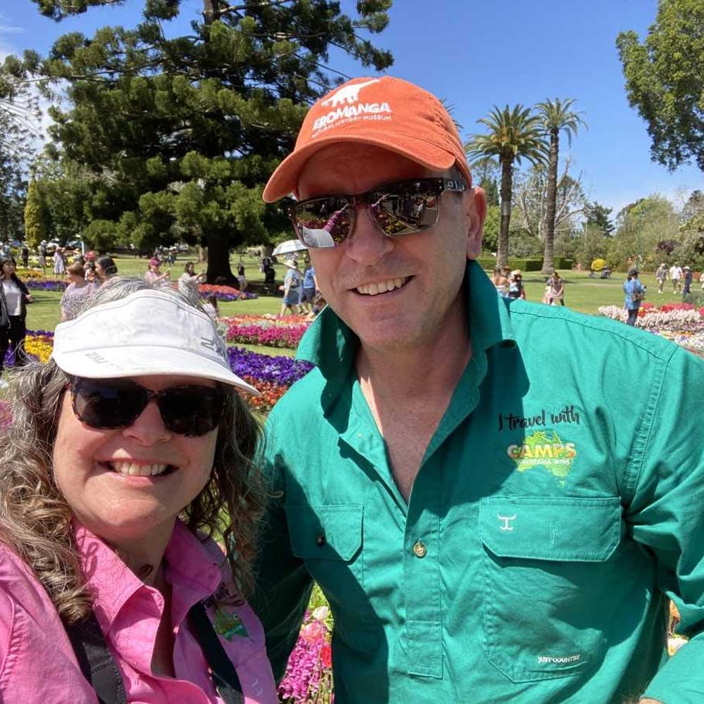 Here we are pictured at the Toowoomba Carnival of Flowers, do you like our new CAMPS shirts? They are as bright as the blooms on show!